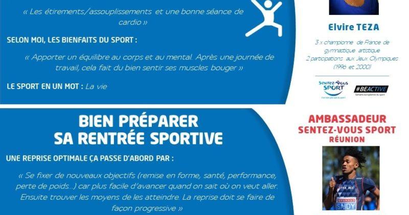 Nos ambassadeurs pour la Semaine Sentez Vous Sport 2020 : Elvire et Fabrisio