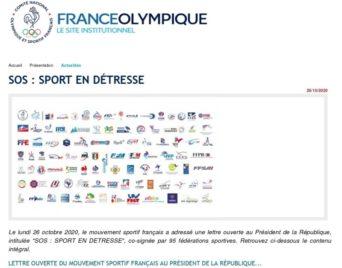 Lettre ouverte du Mouvement sportif français au Président de la République…