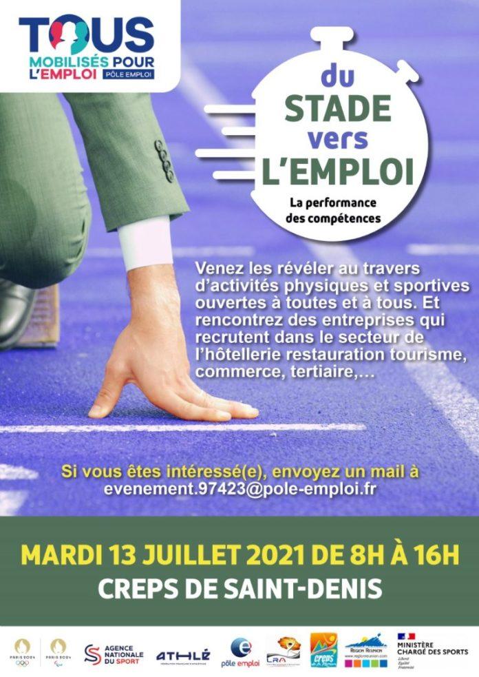« Du STADE vers L'EMPLOI » MARDI 13 JUILLET 2021 A 9H30 AU CREPS DE SAINT DENIS